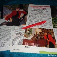 Coleccionismo de Revista Pronto: RECORTE : CONCHA VELASCO, EN SU CASA DE LA MORALEJA. PRONTO, MARZO 1999(#). Lote 281923503