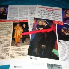 Coleccionismo de Revista Pronto: RECORTE : RAPHAEL, 35 AÑOS COMO CANTANTE : LINA MORGAN, ROCIO JURADO..... PRONTO, MARZO 1999(#). Lote 281923633