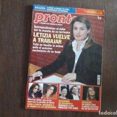 Coleccionismo de Revista Pronto: REVISTA PRONTO, NÚMERO 1816, 24-2-2007. LETIZIA VUELVE A TRABAJAR.. Lote 284034708