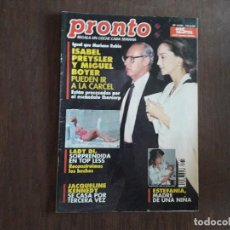 Coleccionismo de Revista Pronto: REVISTA PRONTO, NÚMERO 1149, 14-05-94. ISABEL PREYSLER Y MIGUEL BOYER PUEDEN IR A LA CÁRCEL.. Lote 284034853