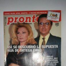 Coleccionismo de Revista Pronto: REVISTA PRONTO, N. 1488. ( PEDIDO MÍNIMO 5€ ).. Lote 287422088