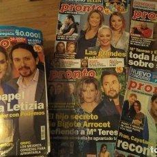 Coleccionismo de Revista Pronto: LOTE 49 REVISTAS DE PRONTO AÑO 2020. Lote 287629218