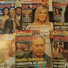 Coleccionismo de Revista Pronto: 11 REVISTAS PRONTO AÑO 2021. Lote 287630153