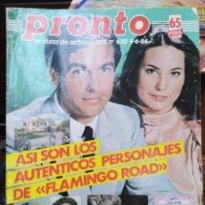 Coleccionismo de Revista Pronto: REVISTA PRONTO N°630 4/6/84-SARA MONTIEL Y LOLA FLORES/. Lote 287751263