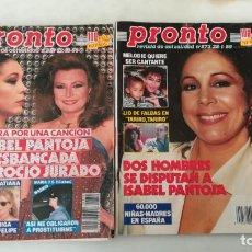 Coleccionismo de Revista Pronto: DOS PRONTO ISABEL PANTOJA, ROCÍO JURADO. 859, 873. Lote 287925493