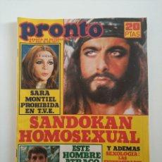 Coleccionismo de Revista Pronto: REVISTA PRONTO 282 AÑO 1977 SANDOKAN HOMOSEXUAL - INCLUYE POSTER Y FOTONOVELA - SARA MONTIEL, ELVIS. Lote 291580743