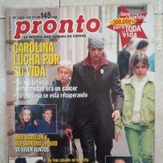 Coleccionismo de Revista Pronto: ANTIGUA REVISTA PRONTO DE LOS AÑOS 90 NÚMERO 1281. CALORÍA. Lote 292027118