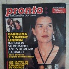 Coleccionismo de Revista Pronto: ANTIGUA REVISTA PRONTO DE LOS AÑOS 90 NÚMERO. 1145. CALORINA. Lote 292029873
