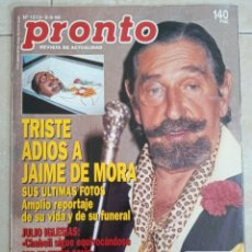Collezionismo di Rivista Pronto: ANTIGUA REVISTA PRONTO DE LOS AÑOS 90 NÚMERO. 1213. JAIME DE MORA. Lote 292030223