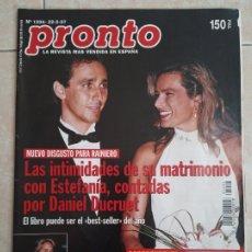 Coleccionismo de Revista Pronto: ANTIGUA REVISTA PRONTO DE LOS AÑOS 90 NÚMERO. 1294. ESTEFANÍA Y DANIEL. Lote 292030608