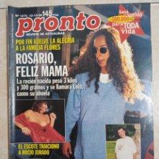 Coleccionismo de Revista Pronto: ANTIGUA REVISTA PRONTO DE LOS AÑOS 90 NÚMERO.1275. ROSARIO. Lote 292048033