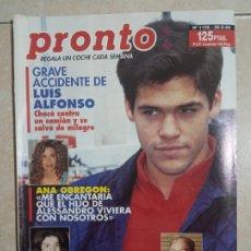 Coleccionismo de Revista Pronto: ANTIGUA REVISTA PRONTO DE LOS AÑOS 90 NÚMERO.1138. LUIS ALFONSO. Lote 292084183
