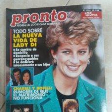Coleccionismo de Revista Pronto: ANTIGUA REVISTA PRONTO DE LOS AÑOS 90 NÚMERO.1132. LADY DI. Lote 292085158