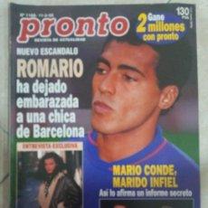 Coleccionismo de Revista Pronto: ANTIGUA REVISTA PRONTO DE LOS AÑOS 90 NÚMERO.1188. ROMARIO. Lote 292085493
