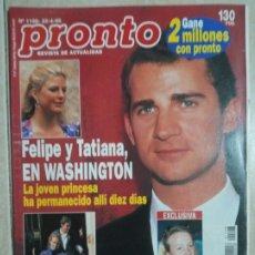 Coleccionismo de Revista Pronto: ANTIGUA REVISTA PRONTO DE LOS AÑOS 90 NÚMERO1198. FELIPE Y TATIANA. Lote 292091523