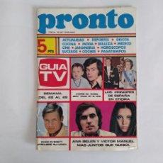 Collezionismo di Rivista Pronto: REVISTA PRONTO AÑO I Nº 1 (22 DE MAYO 1972) ANA BELEN MARISOL CHAD EVERETT SEAT 127 DISCOS MODA. Lote 292525453