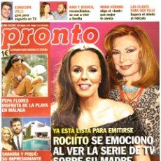 Coleccionismo de Revista Pronto: REVISTA PRONTO: ROCIO CARRASCO / ROCIO JURADO / MARTA SANCHEZ / SHAKIRA / ROSARIO FLORES. Lote 293825223