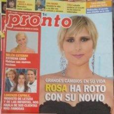 Coleccionismo de Revista Pronto: REVISTA PRONTO: ROSA LOPEZ / MARTA SANCHEZ / MACAULAY CULKIN / SEAN CONNERY / AGUILA ROJA. Lote 293916308