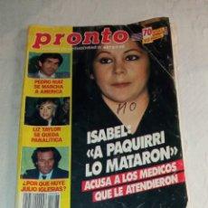 Coleccionismo de Revista Pronto: PRONTO NÚM 687.. Lote 294123748