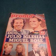 Coleccionismo de Revista Pronto: REVISTA PRONTO Nº 503 - AÑO 1981 (DUO JULIO IGLESIAS, MIGUEL BOSE - FOTONOVELA). Lote 295608728