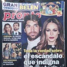 Coleccionismo de Revista Pronto: REVISTA PRONTO Nº 2485 / 2019. Lote 295757133