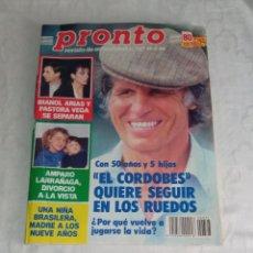 Coleccionismo de Revista Pronto: PRONTO NÚM 727.. Lote 295829773