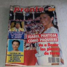 Coleccionismo de Revista Pronto: PRONTO NÚM 728.. Lote 295832113