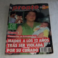 Coleccionismo de Revista Pronto: PRONTO NÚM 734 + PÓSTER SELECCIÓN ESPAÑOLA DE FÚTBOL .. Lote 295834883