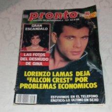 Coleccionismo de Revista Pronto: PRONTO NÚM 737.. Lote 295890003
