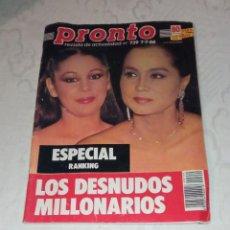 Coleccionismo de Revista Pronto: PRONTO NÚM 739.. Lote 295890088