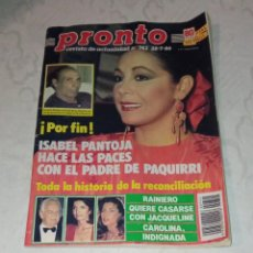 Coleccionismo de Revista Pronto: PRONTO NÚM 742.. Lote 295891038
