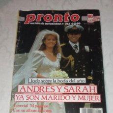 Coleccionismo de Revista Pronto: PRONTO NÚM 743.. Lote 295891233