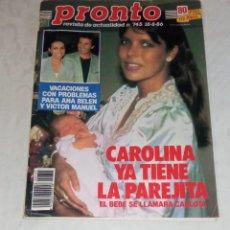 Coleccionismo de Revista Pronto: PRONTO NÚM 745.. Lote 295893228