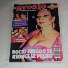 Coleccionismo de Revista Pronto: PRONTO NÚM 746.. Lote 295893573