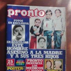 Coleccionismo de Revista Pronto: REVISTA PRONTO Nº 349 - 15-1-79- AMANDA LEAR - REMEDIOS AMAYA - MANOLO ESCOBAR - POSTER GREASE. Lote 296825058