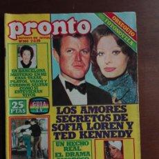 Coleccionismo de Revista Pronto: REVISTA PRONTO Nº 365 – 7-5-79 – SOFIA LOREN – TED KENNEDY – AGATA LYS - POSTER BEE GEES. Lote 296825388