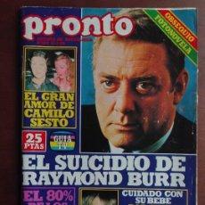 Coleccionismo de Revista Pronto: REVISTA PRONTO Nº 353 – 12-2-79 – CAMILO SESTO – RAYMOND BURR - POSTER FARRAH FAWCETT. Lote 296825573