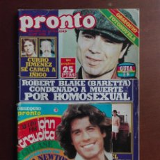 Coleccionismo de Revista Pronto: REVISTA PRONTO Nº 347 – 1-1-79 –ROBERT BLAKE – JOHN TRAVOLTA – JOSE SACRISTAN - POSTER ENRIQUE Y ANA. Lote 296826408