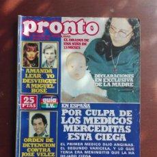 Coleccionismo de Revista Pronto: REVISTA PRONTO Nº 339 – 6-11-78 – AMANDA LEAR – MIGUEL BOSE- JOSE VELEZ – POSTER LEIF GARRETT. Lote 296826888