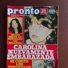 Coleccionismo de Revista Pronto: REVISTA PRONTO Nº 368 – 28-5-79 – JACKLYN SMITH – CAROLINA DE MONACO- POSTER LOS CINCO. Lote 296840468