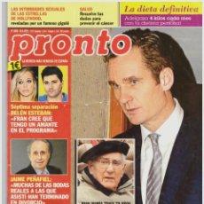 Coleccionismo de Revista Pronto: REVISTA PRONTO: IÑAKI URDANGARIN / SARA MONTIEL / BRAD PITT / ANGELINA JOLIE / ENRIQUE IGLESIAS. Lote 296879858