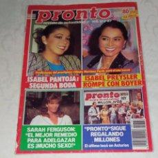 Coleccionismo de Revista Pronto: PRONTO NÚM 766 + PÓSTER ROB LOWE + COLECCIONABLES.. Lote 296930503