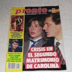 Coleccionismo de Revista Pronto: PRONTO NÚM 767 + PÓSTER EMMA SAMMS + COLECCIONABLES.. Lote 296930808