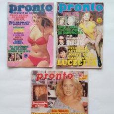 Coleccionismo de Revista Pronto: 3 REVISTAS PRONTO NUMEROS 99 150 Y 773. Lote 297069798