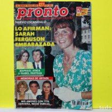 Coleccionismo de Revista Pronto: PRONTO NÚM. 1063 - 1992. Lote 297090363