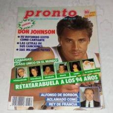 Coleccionismo de Revista Pronto: PRONTO NÚM 769 + PÓSTER BERTÍN OSBORNE + COLECCIONABLES.. Lote 297135988