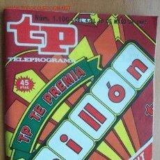 Coleccionismo de Revista Teleprograma: TELEPROGRAMA Nº 1100 - DEL 4 AL 10 DE MAYO DE 1987. Lote 17002672