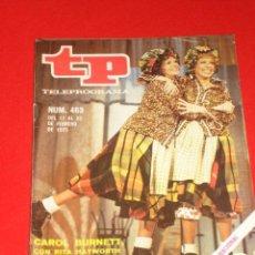 Coleccionismo de Revista Teleprograma: TP. TELEPROGRAMA Nº463 DEL 17 AL 23 DE FEBRERO 1975. PORTADA ** CAROL BURNETT Y RITA HAWORTH **. Lote 26475711