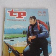 Collectionnisme de Magazine Teleprograma: TELEPROGRAMA Nº 535 DEL 5 AL 11 JULIO 1976 PORTADA: CLINT WALKER. Lote 33482612