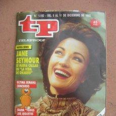 Coleccionismo de Revista Teleprograma: TELEPROGRAMA Nº 1183: DEL 05 AL 11 DE DICIEMBRE DE 1988: JANE SEYMOUR EN